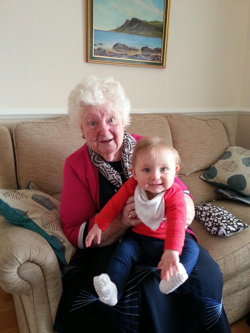 Olivia and her Nana Christmas 2014