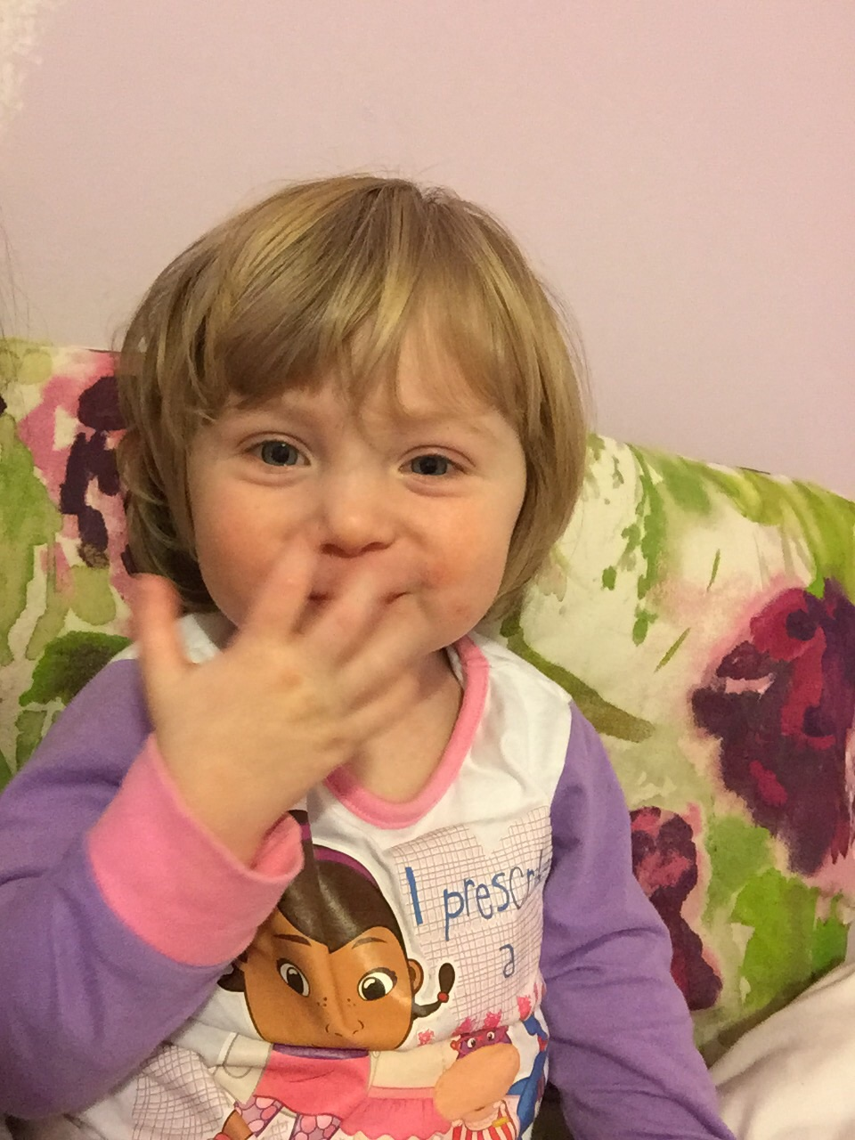 Blowing mummy and daddy a kiss....but dont rush home guys