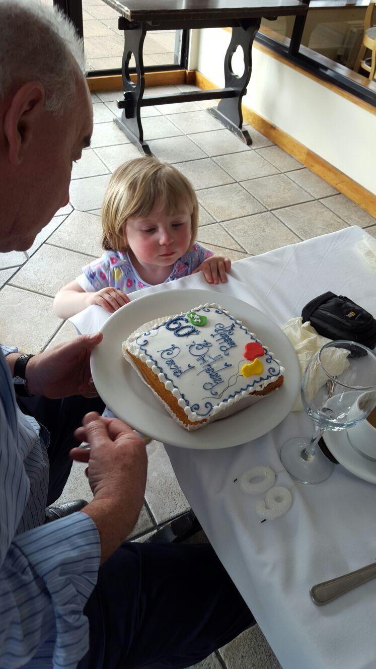 Hurry up Granda and cut the Happy Cake!